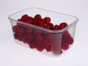Transparenter Lebensmittelbehälter mit Millikens Millad (r) NX tm 8000