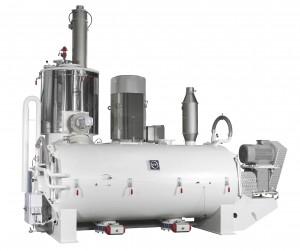 MTI Eco plus-line ist eine neue Heiz-/Kühlmischerkombination für den Double- Batch-Betrieb beim Aufbereiten von PVC-U zur Herstellung von Massenprodukten mit möglichen Durchsätzen von weit über 10 t/h (Foto: MTI)