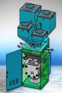 Das neue gravimetrische Chargendosiersystem Somos BB 500 ist für bis zu vier rieselfähige Materialien und einen Durchsatz bis 500 kg/h ausgelegt (Foto: Protec Polymer Processing)