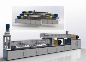 Die zur K 2013 vorgestellten Doppelschnecken-Blend-Reaktoren von Keimei sind als maßgeschneiderte zwei- oder mehrstufige Systeme erhältlich. Sie erfüllen anspruchsvolle Aufgaben in der reaktiven Extrusion, beim Pfropfen von Polymeren, in der Herstellung von Nanocomposites auf Kunststoffbasis oder beim Abbau von Polymeren zur Herstellung von Wachsen (Foto: Keimei)