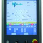 Die Bildschirmoberfläche des Desma-Bedienpanels DRC 2020 HT ist mit einem speziellen Haptik-Touch-System versehen, das die Eingaben oder Fehleingaben optisch, akustisch und taktil quittiert. (Foto: Desma)