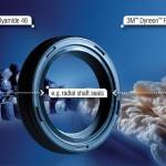 Die neue Materialkombination bestehend aus Fluorelastomeren und PA 46 wird in einem wirtschaftlichen zweistufigen Herstellungsverfahren gefertigt. (Foto: 3M)