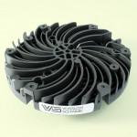 Kühlkörper für LED-Lichtsystem von Vossloh-Schwabe aus einem wärmeleitfähigen mit 50 Gew.-% Graphit gefüllten PA-6-Compound. (Foto: Lati)