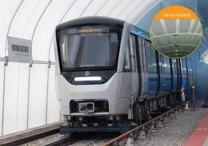 Der Melaminharzschaumstoff Basotect kommt für die Wärme- und Schalldämmung im Deckenbereich von 468 neuen U-Bahn-Wagen zum Einsatz, die Bombardier für die Metro in Montreal, Kanada, baut. (Foto: Bombardier)