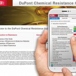 Der Chemical Resistance Guide (CRG) von DuPont steht nun auch in einer auf den meisten Smartphones lesbaren Version zur Verfügung. (Foto: DuPont)