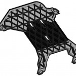 Der Prototyp ist gegenüber einer vergleichbaren Stahlkomponente fast um die Hälfte leichter, lässt sich leichter montieren und kann in einem großserientauglichen Prozess gefertigt werden. (Foto: Lanxess)