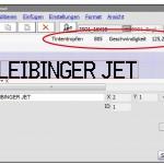 Die Software Jetedit3 zeigt ab sofort den Tintentropfen-Verbrauch und die maximal mögliche Produktionsgeschwindigkeit an. (Abb.: Paul Leibinger)