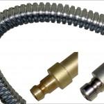 Der flexible Metallwellschlauch Tempflex bietet gute Voraussetzungen zur Temperierung von Formplatten, Einsätzen und Zwischenplatten bei gleichzeitiger konturnaher Kühlung. (Foto: Hasco)