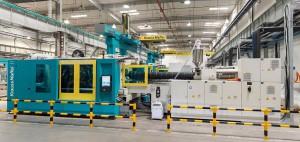 Auf den vier neuen MX 850 – 8100 werden Laugenbehälter für Waschmaschinen produziert. (Foto: Krauss Maffei)