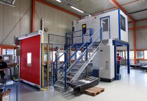 """Anlage mit klimatisierter Kabine, """"Maßgeschneidert"""" für das Hallensegment bei ACE. (Foto: Reis)"""