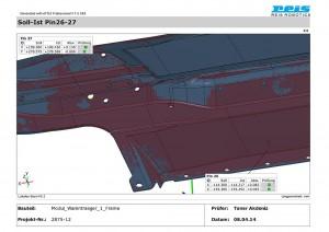 Für die Bauteilfreigabe ein Protokoll aus der 3D-Vermessung. (Abb.: Reis)