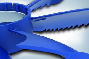 Bionische Formteilgestaltung des Ventilatorflügels mit optimierter Geometrie zur Reduzierung von Antriebsenergie und Geräusch. (Foto: Ziehl-Abegg)