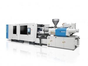 Mit der neuen AX 450 und AX 550 erweitert Krauss Maffei sein Angebot der vollelektrischen Spritzgießmaschinen gezielt um größere Schließkräfte nach oben. (Foto: Krauss Maffei)