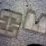 Vermessung eines keramischen Kleinstbauteils. (Foto: Oximatec)