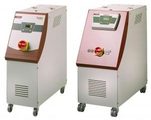 Die Temperiergeräte Tempro basic C120 gibt es in zwei Baugrößen. (Foto: Wittmann)