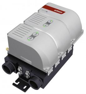 Der kompakte Wassermengenverteiler Flowcon plus bietet für jeden Wasserkreis die Möglichkeit, die Temperatur oder den Durchfluss zu regeln. (Foto: Wittmann)