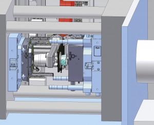 Durch einen multifunktionalen Werkzeugaufbau mit austauschbaren beheizten Nadelverschlüssen lassen sich schnell und unkompliziert die individuellen Spritzgießwerkzeuge installieren (Quelle: Müller).