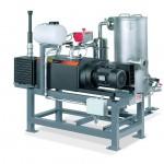 Plastex-Extruder-Entgasungsanlage mit einer Mink Klauen-Vakuumpumpe. (Foto: Busch)