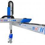 Die 5-achsige 5X-Line basiert auf der hoch präzisen Drei-Achsen-Portal-Roboterreihe von Sepro, die mit einer Zwei-Achs-Servo-Drehhandachse von Stäubli kombiniert arbeitet. (Foto: Sepro)
