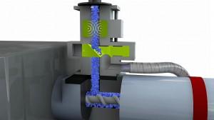Für die Installation der Metallseparatoren auf den Spritzgießmaschinen bei Suzuki standen jeweils nur 350 mm an möglicher Einbauhöhe zur Verfügung. (Abb.: S+S)