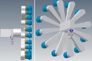 Bild 2: Erstes theoretisches 3D-Modell zur Machbarkeitsprüfung. (Foto: ASS)