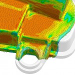 Vorhersage der Faserorientierung in faserverstärkten Kunststoffen in der Spritzgießsimulation. (Abb.: Sigma Engineering)