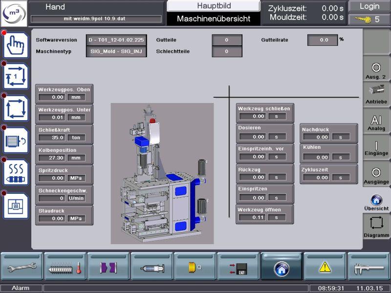 Abb.8 MMS-Anlage - Steuerung Spritzgie+ƒmodul