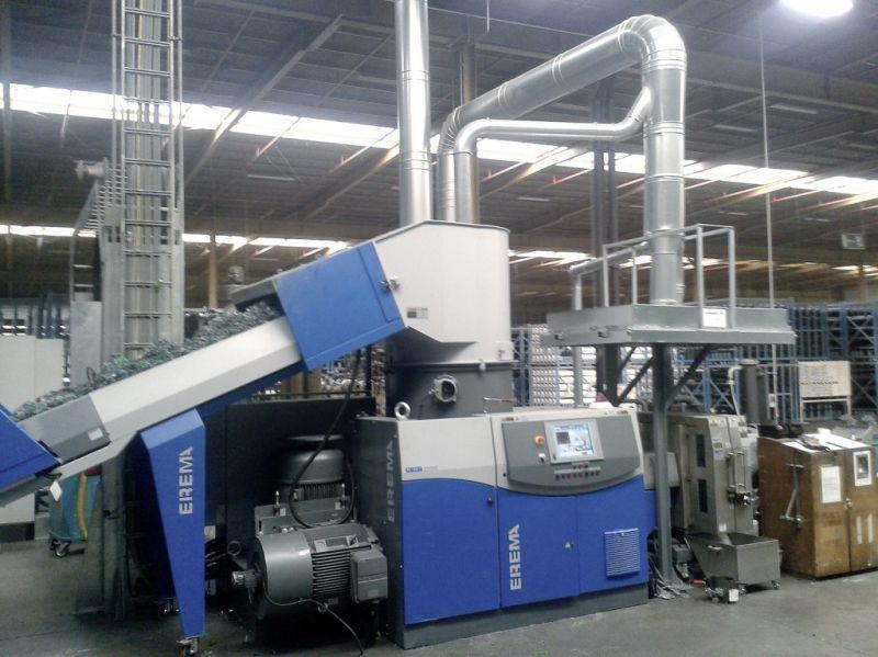 Die Anlage Corema 1109 T bei Beaulieu Technical Textiles in Belgien sorgt für eine effiziente Entgasung der Spinnölanteile im Schneidverdichter (Foto: Beaulieu Technical Textiles)