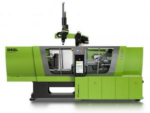 Die holmlose Schließeinheit der Spritzgießmaschine E-Victory sorgt bei der Herstellung von Sensorgehäusen im Zwei-Komponenten-Spritzguss für eine hohe Prozesskonstanz. (Foto: Engel)
