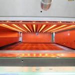 Infrarot-Strahlermodul für beschichtete Gitter-Strukturen, offene Glas- oder Carbongitter. (Foto: TU Dresden)