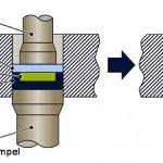 IKT: Hybride Kunststoff-Metallbauteile fließpressen