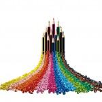 Eingefärbt in 24 Farben sorgt TPE für angenehme Haptik und Griffigkeit bei den Wopex-Buntstiften von Staedtler. (Foto: Kraiburg TPE)