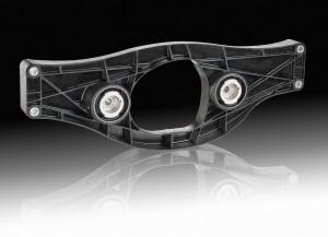 Weltweit erster Hinterachsgetriebequerträger aus Kunststoff in der S-Klasse von Mercedes-Benz. (Foto: BASF)