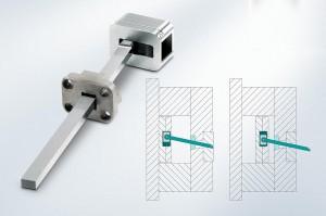 Die Schrägauswerfereinheit E 3248 ermöglicht ein einfaches Entformen von Hinterschnitten ohne Schieber. (Foto: Meusburger)
