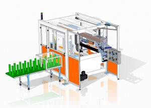 Beck-Flex ermöglicht die Automation von innen oder außen angespritzten IML-Produkten. (Abb.: Beck)