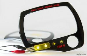 Selbstleuchtende FIM-O Navigationsblende mit integrierter OLED-Beleuchtung. (Foto: BÖ-LA)