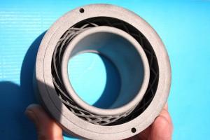 Neuartiger Mischer, der in einen Blaskopf hinter den Verteilerkanal integriert wurde. (Foto: Groß Kunststoff-Verfahrenstechnik)