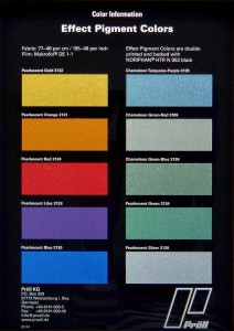 NoriCure CCI Effektpigmentfarbtöne stehen in breiter Auswahl zur Verfügung. (Foto: Pröll)