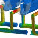 Parallele Strömungssimulation von Temperierung und Bauteilfüllung mit Sigmasoft v5.1. (Abb.: Sigmasoft)