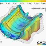 In Cadmould ist jetzt ein Modell zur Simulation des Schwindungs- und Verzugsverhaltens von Elastomeren integriert. (Abb.: Simcon)