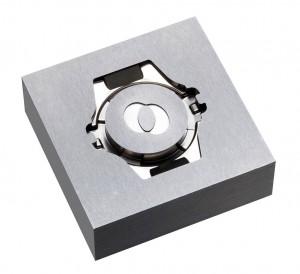 Erodierpolierte Kavität für das Spritzen von Uhrengehäusen. (Foto: Leonhardt)