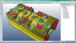 Funktionen wie die Solidgruppentechnologie erleichtern die Konstruktion von Mehrkavitätenwerkzeugen. (Abb.: Mecadat)