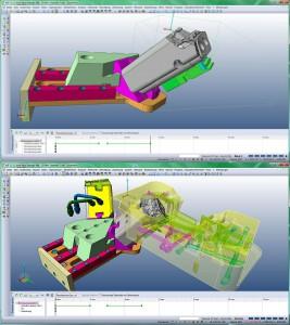 Ein hilfreiches Instrument bei der Konstruktion von Spritzgießwerkzeugen ist die Simulation von Bewegungsabläufen. (Abb.: Mecadat)