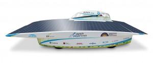 Openair-Plasma unterstützte den Klebprozess der CFK-Karosserie des neuen Solar-Rennwagens Punch One. (Foto: Rob Stevens / KU Leuven)