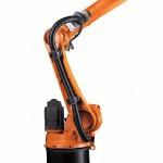 Kompkat gestaltet sind die Roboter der Serie KR Cytec nano für den Traglastbereich bis 10 kg. (Foto: Kuka)