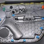 Im Hybridfleece Molding hergestellter Konzept-Türträger. (Foto: IAC)