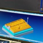 Elektrodenkonstruktion in der Erodierabteilung: Hier eine in VISI Elektrode mit Messpunkten versehene Grafitelektrode. (Foto: Mecadat)