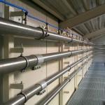 In der ausgebauten Testanlage sind Full-scale-Tests zur pneumatischen Förderung möglich. (Foto: Dinnissen)