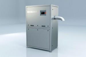 Der vollautomatisierte Trockeneispelletizer PR120H. (Foto: Cold Jet)