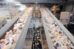 Sortieranlage für gebrauchte Kunststoffverpackungen bei Interseroh (Foto: Alba Group/Interseroh)